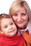 Middleaged woman with kid Royalty Free Stock Images