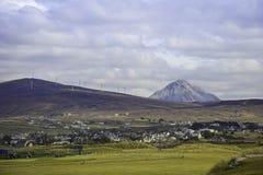 Middlebeg在Donegal和Errigal在背景中 免版税库存照片