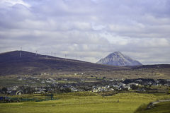 Middlebeg в Donegal с Errigal на заднем плане Стоковые Фотографии RF