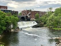 Middlebury Vermont siklawa obrazy royalty free