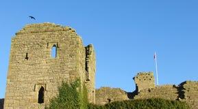 Middleham城堡废墟 免版税库存照片