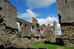 Middleham Castle, North Yorkshire. View of inside of ruined Middleham Castle in North Yorkshire. The castle was owned by King Richard 3rd and preferred by him Stock Photo