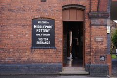 Middleport krukmakerifabrik, ingångsport Arkivfoto