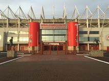 Middlesbrough Riverside Stadium. Official stadium for Middlesbrough FC, located in Teesside Royalty Free Stock Images