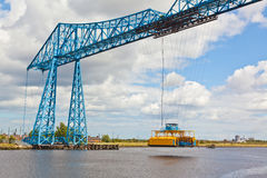 Middlesbrough transporter bridge. The unique bridge connects Middlesbrough on the south bank of the River to Port Clarence on the north bank. It is a transporter Royalty Free Stock Image
