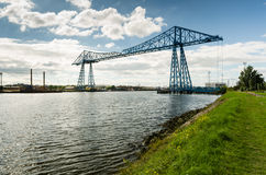 Middlesbrough Transporter Bridge. The Middlesbrough Transporter Bridge carries people and cars over the Tees in a suspended gondola Stock Photography
