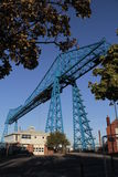 Middlesbrough Transporter. The Iconic Transporter bridge over the river Tees on Teesside Royalty Free Stock Photos