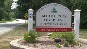 Middlesex hospital sign stock video
