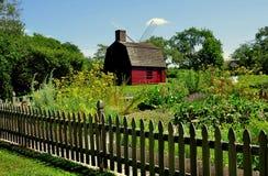 Middletown, RI: c 1700 guardia House en Prescott Farm Foto de archivo libre de regalías