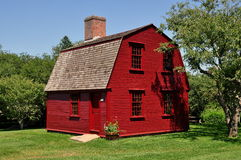 Middletown, RI: c 1700 Schutz House bei Prescott Farm Lizenzfreie Stockfotografie