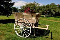 Middletown, RI: Wagon at 18th Century Prescott Farm Royalty Free Stock Image