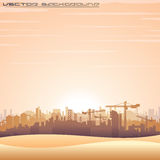 Mideast Cityscape. Vector Panorama Royalty Free Stock Image
