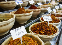 Mideast Spice Bowls Royalty Free Stock Photos