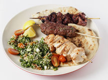 Mideast style barbecue meal Stock Image