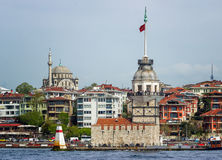 Miden Tower in istanbul,Turkey. Sea and Miden Tower in istanbul,Turkey Royalty Free Stock Photos
