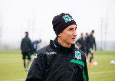 Midfielder fc krasnodar Vladimir Bystrov on the open training session Stock Photos