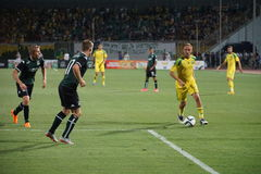 Midfielder fc kuban Vladislav Kulik runs to goal in the match against fc krasnodar Royalty Free Stock Photos