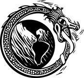 Midgard Serpent and Earth Royalty Free Stock Photos