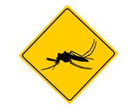 Midge warning sign Royalty Free Stock Image