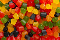 Midget gem gumdrops from above Royalty Free Stock Photos
