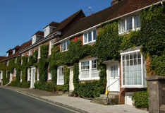 Midhurst cottages. A row of Georgian cottages in the historic market town of Midhurst in West Sussex Stock Photos
