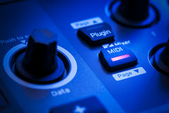 MIDI Button on a Controller Keyboard Royalty Free Stock Photography