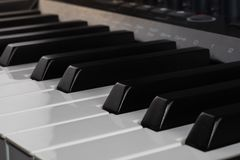 Midi controller keyboard digital music stock images