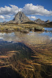 Midi D'Ossau day. Foreground landscape sunset from Midi D'Ossau Pyrenees. France Royalty Free Stock Images