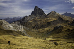 Midi D'Ossau day. Landscape from Midi D'Ossau Pyrenees. France Royalty Free Stock Photography