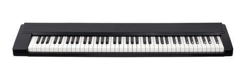 Midi-E-Piano auf weißem Hintergrund lizenzfreies stockbild