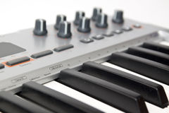 Midi keyboard Stock Photo