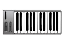 Midi Keyboard. A midi keyboard controller instrument Royalty Free Stock Image