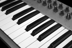 Midi Keyboard Royalty Free Stock Images