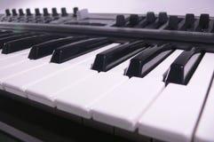 Midi keyboard close up. Piano roll. Stock Photo