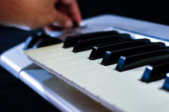 The midi keyboard controller Stock Image