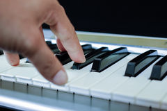 The midi keyboard controller Stock Photography