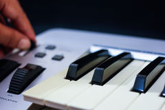 The midi keyboard controller Stock Images