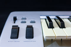 The midi keyboard controller Royalty Free Stock Photos