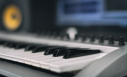 Midi keyboard. Royalty Free Stock Images