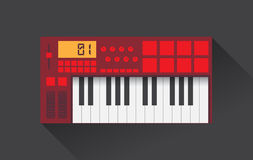 Midi master keyboard Stock Photos