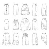 Midi skirts Stock Photo