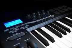 MIDI-teclado profissional Fotografia de Stock