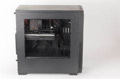 Midi tower computer case with transparent acryl side Stock Images