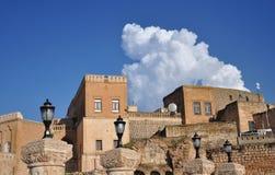 Midiatstad, zuidoostengebied van Turkije mesopotamië stock foto