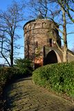 Midieval tower in sunlight. Midieval round tower in sunlight Stock Photography