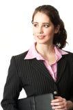 Lyckad ung yrkesmässig kvinna royaltyfri bild