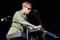Midlake (Amerikaanse volkspopgroep) in overleg bij het Correcte 2014 Festival van Heineken Primavera Royalty-vrije Stock Foto