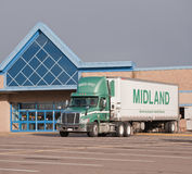 Midland Transport Truck Stock Photography
