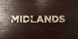 Midlands - grungy wooden headline on Maple  - 3D rendered royalty free stock image Stock Image