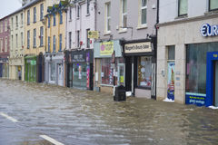 Midleton Co Cork Flooded arkivfoton